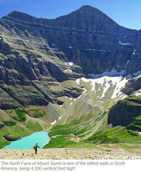North Face of Mount Siyeh above Cracker Lake, Glacier Park