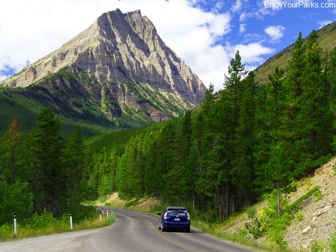 Akamina Parkway with Mount Lineham, Waterton Lakes National Park