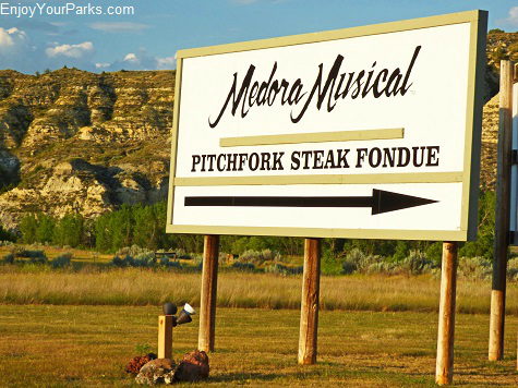 Medora Musical and Pitchfork Steak Fondue