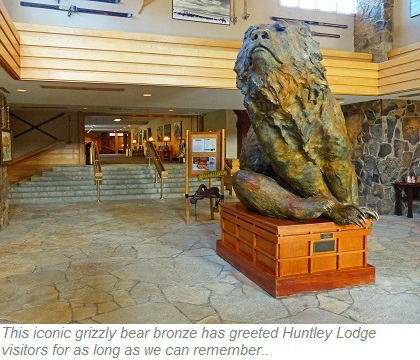 Grizzly bear bronze, Huntley Lodge at Big Sky Resort Montana