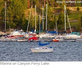 Marina on Canyon Ferry Lake Montana