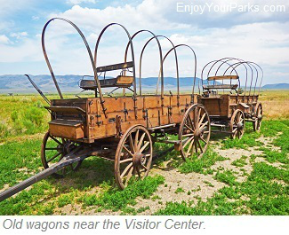 Old wagons, City of Rocks National Reserve Visitor Center, Idaho
