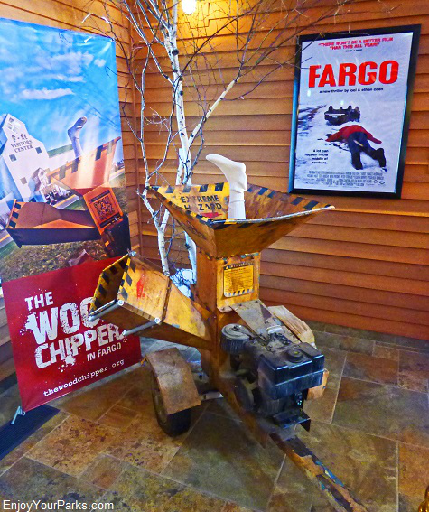 Woodchipper from the movie Fargo, Fargo-Moorhead Visitor Center, North Dakota