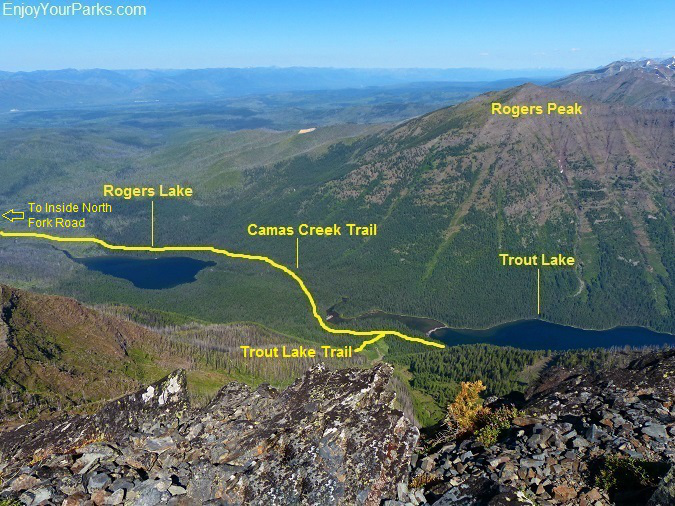 Camas Creek Trail, Trout Lake Trail, Glacier National Park