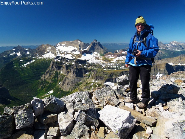 Mount Chapman summit view, Glacier National Park