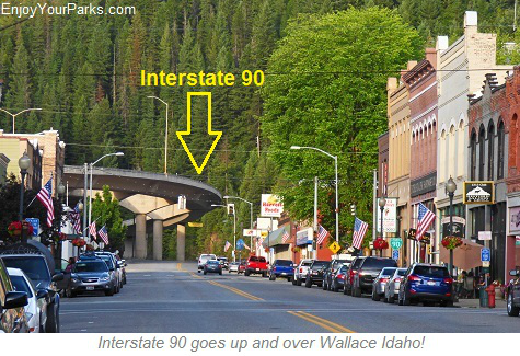 Interstate 90, Wallace Idaho