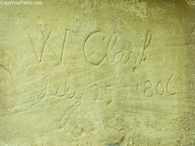 Captain William Clarks signature, Pompeys Pillar National Monument Montana