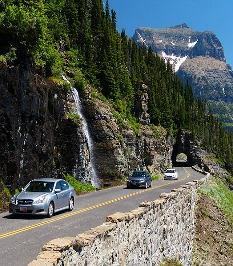 Going To The Sun Road, Glacier National Park Montana.