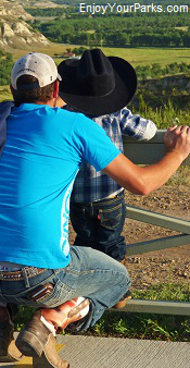 Dad and son, Medora North Dakota