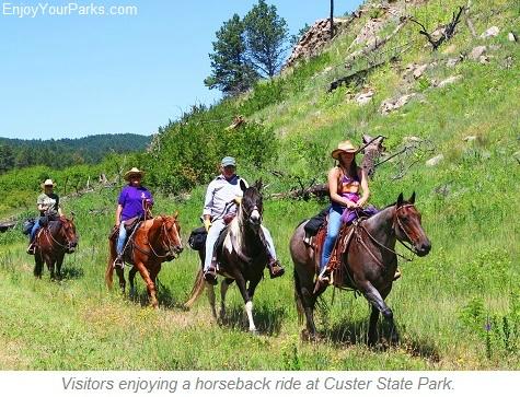 Horseback riders, Custer State Park, South Dakota