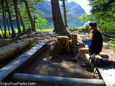 Upper Kintla Lake Campground, Boulder Pass Trail, Glacier National Park