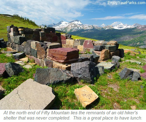 Fifty Mountain Hiker's Shelter, Glacier Park