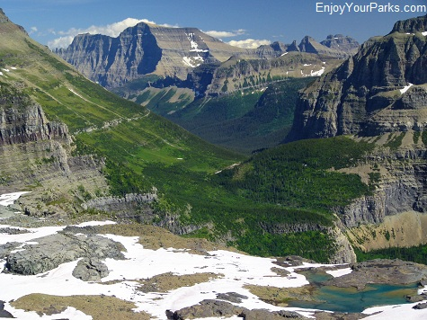View from Boulder Pass of Mount Cleveland, Glacier National Park