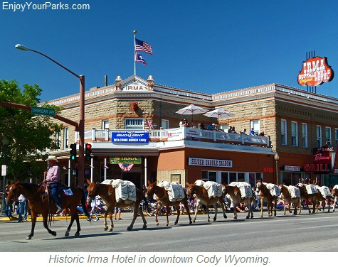 Irma Hotel in Cody Wyoming, Yellowstone National Park