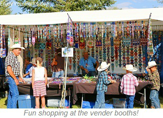 Fun shopping at vendor booths, Cheyenne Frontier Days