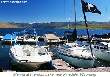 Marina at Fremont Lake near Pinedale Wyoming