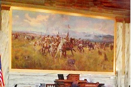 Charles M. Russell painting in the Montana House of Representives