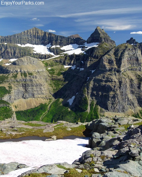 View of Thunderbirde Mountain from Boulder Pass, Glacier National Park