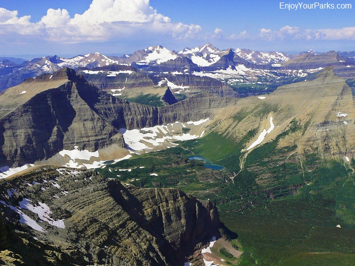 Mount James summit view, Glacier National Park