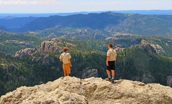 Boy Scouts on Harney Peak, Black Hills of South Dakota
