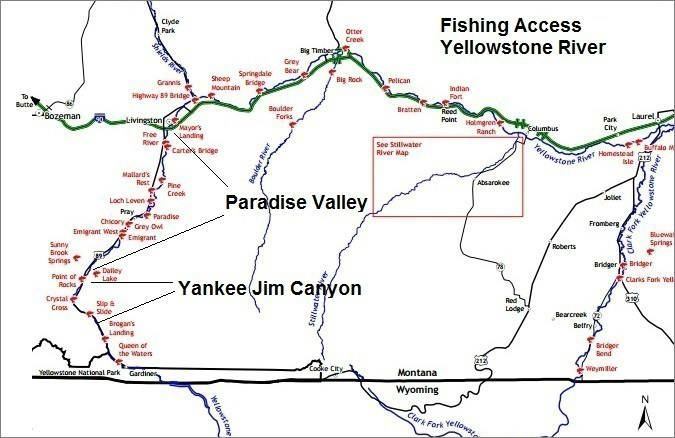 Yellowstone River Fishing Access Map