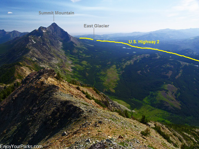 Elk Mountain summit view, Glacier National Park
