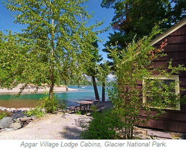 Apgar Village Lodge Cabins, Glacier Park Lodging, Glacier National Park