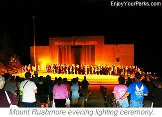 Mount Rushmore lighting ceremony.