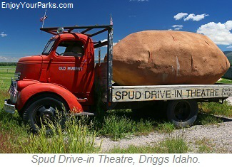Spud Drive-In Theatre, Driggs Idaho, Teton Scenic Byway