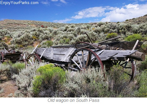 Old wagon, South Pass National Historic Landmark, Wyoming