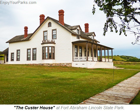 The Custer House, Fort Abraham Lincoln State Park, North Dakota
