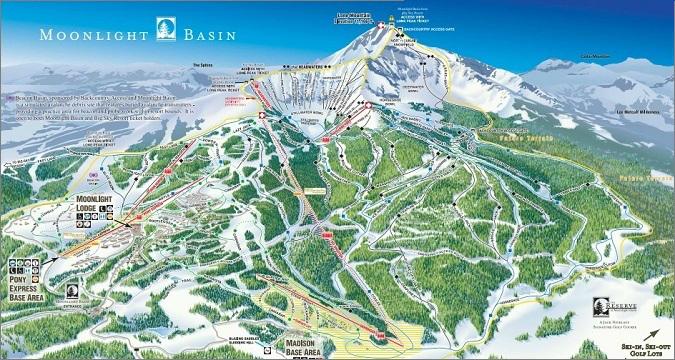 Big Sky Resort, Northern Exposure Trail Map