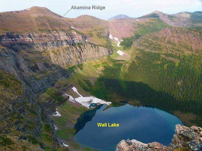 Akamina Ridge and Wall Lake, Akamina-Kishinena Provincial Park, British Columbia, near Waterton Lakes National Park