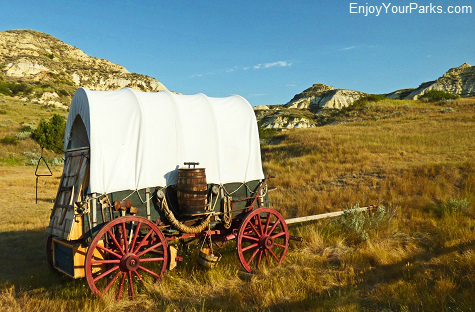 Old chuckwagon near Medora, North Dakota