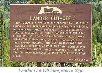 Lander Cut-Off Interpretive Sign, Star Valley Scenic Byway, Wyoming