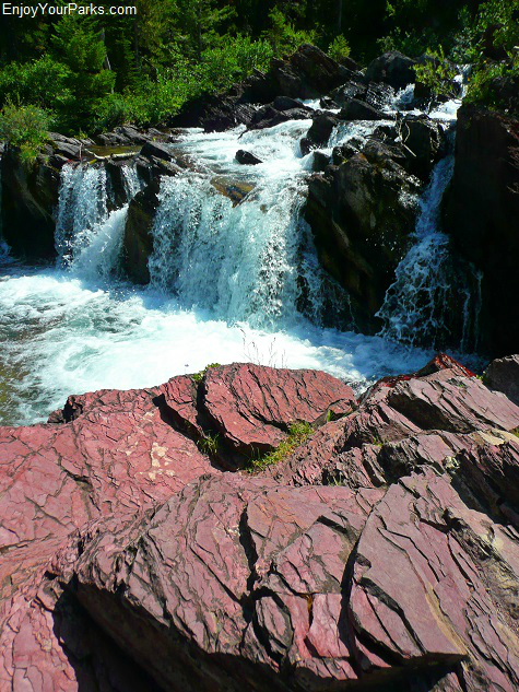 Red Rock  Falls, Swiftcurrent Pass Trail, Glacier National Park