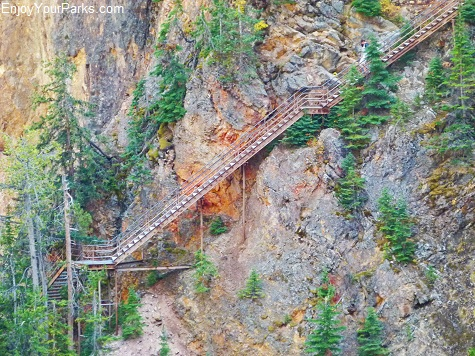 Uncle Tom's Trail, Grand Canyon of the Yellowstone, Yellowstone National Park