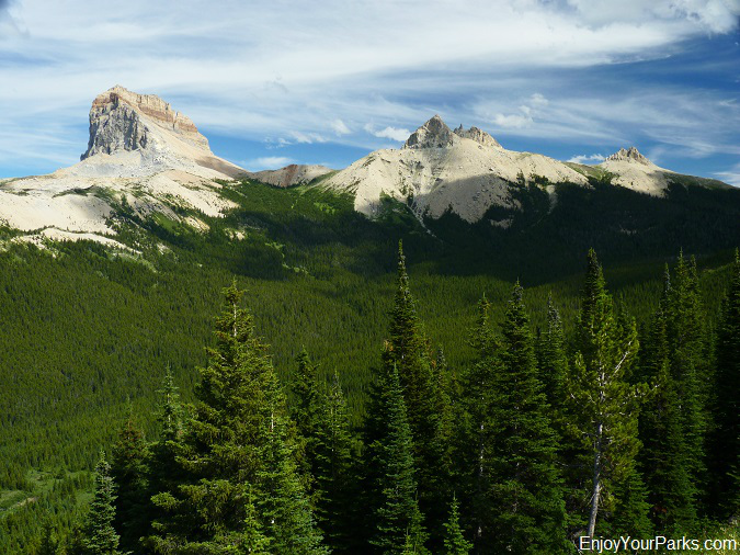 Chief Mountain, Ninaki Mountain and Papoose Mountain, Lee Ridge Trail, Glacier National Park