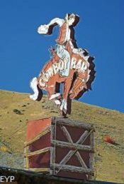 Million Dollar Cowboy Bar Sign, Jackson Wyoming