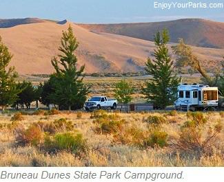 Brueau Dunes State Park Campground, Idaho