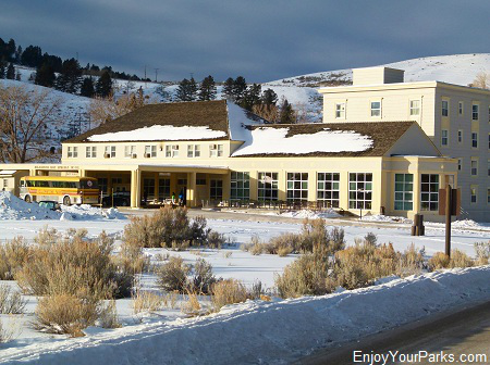 Mammoth Hot Springs Hotel, Winter In Yellowstone Park