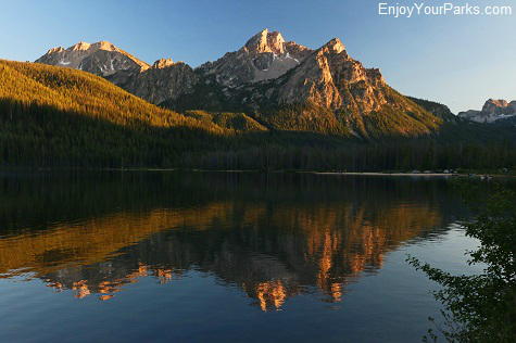 Stanley Lake in the Sawtooth National Recreation Area, Idaho