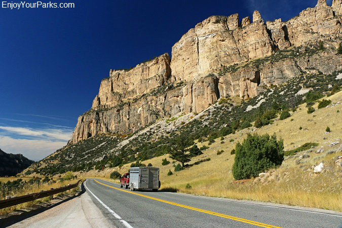 Ten Sleep Canyon along the Cloud Peak Skyway Scenic Byway of Wyoming