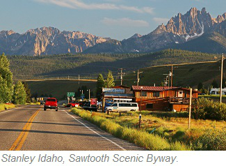 Stanley Idaho, Sawtooth Scenic Byway
