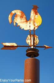 Rooster weathervane, North Dakota