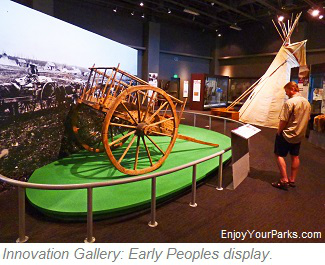 Early Peoples display, North Dakota Heritage Center in Bismark