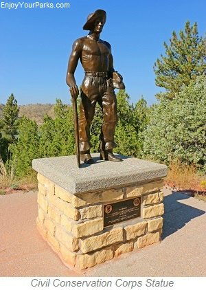 Civil Conservation Corp Statue, Guernsey State Park, Wyoming