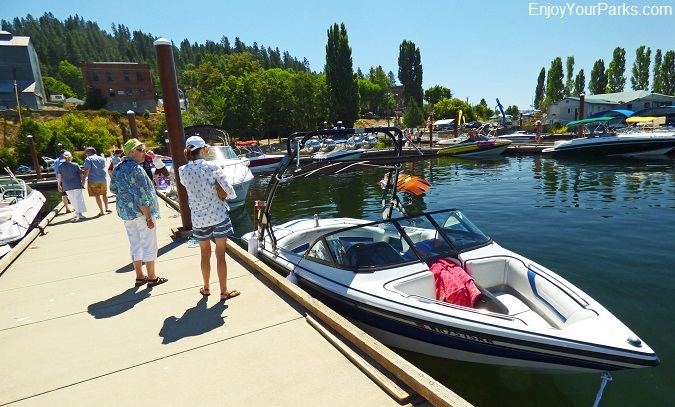 Boaters, Harrison Idaho, Lake Coeur d' Alene Scenic Byway