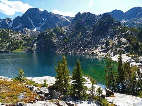 Pine Creek Lake, Absaroka Mountain Range, Montana