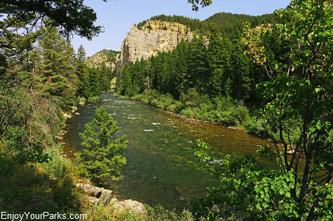 Gallatin River Canyon Montana